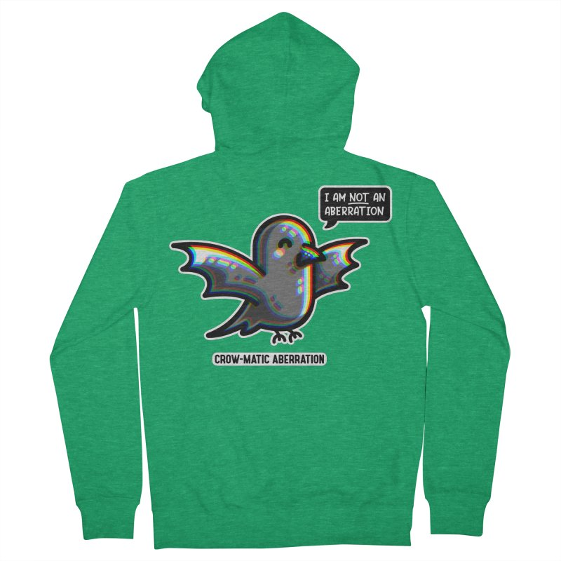 Chromatic Aberration Cute Pun Fitted Zip-Up Hoody by Flaming Imp's Artist Shop