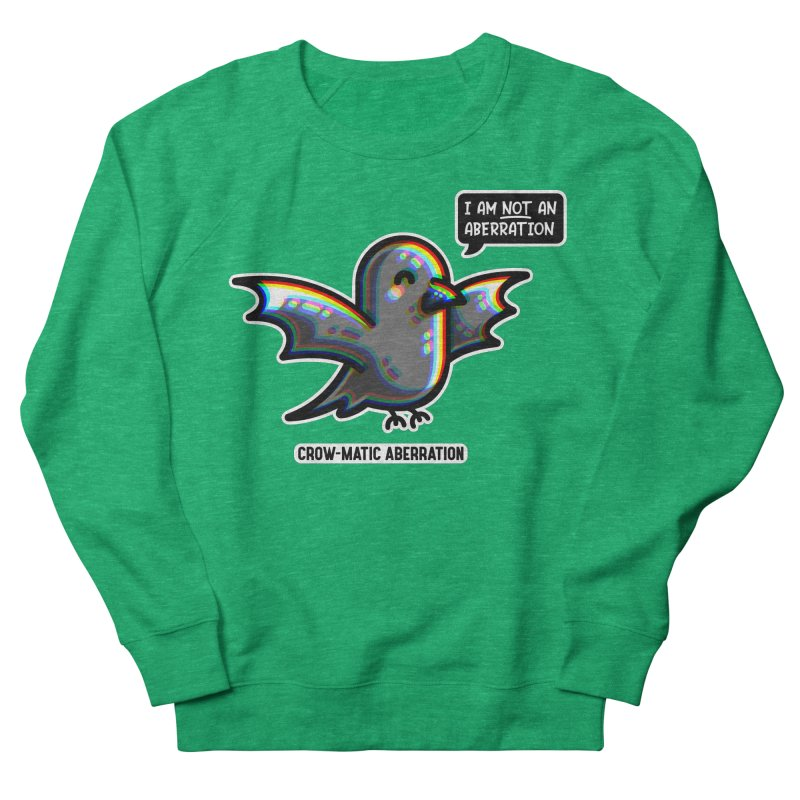 Chromatic Aberration Cute Pun Fitted Sweatshirt by Flaming Imp's Artist Shop