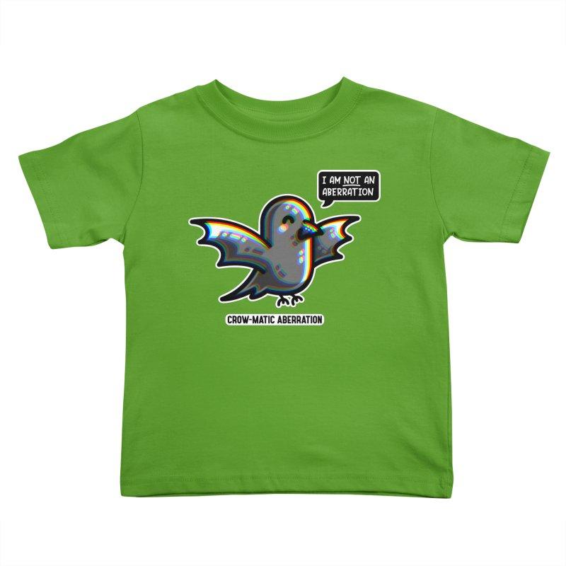 Chromatic Aberration Cute Pun Kids Toddler T-Shirt by Flaming Imp's Artist Shop