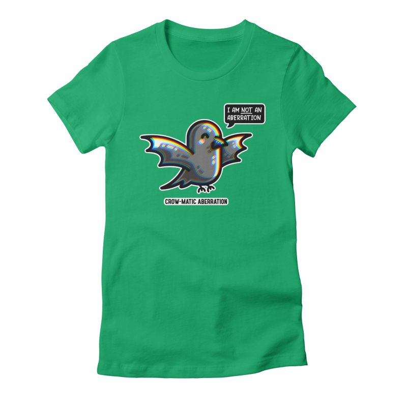 Chromatic Aberration Cute Pun Fitted T-Shirt by Flaming Imp's Artist Shop