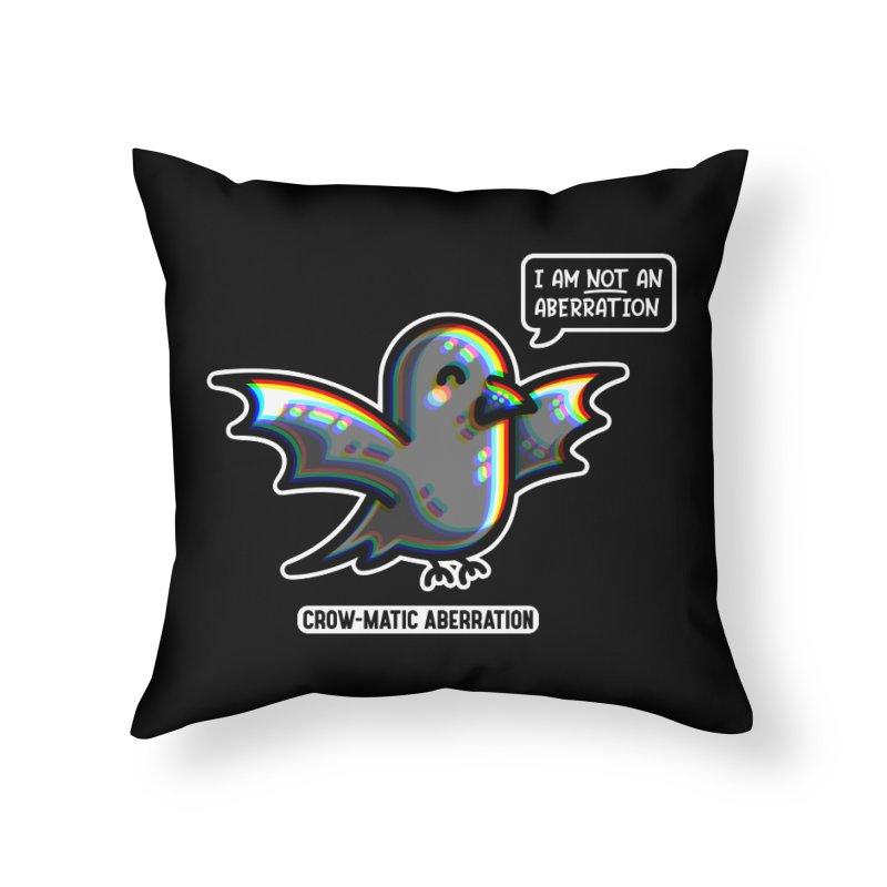 Chromatic Aberration Cute Pun Home Throw Pillow by Flaming Imp's Artist Shop