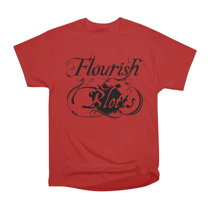 Flourish & Blotts Women's Classic Unisex T-Shirt by Flaming Imp's Artist Shop
