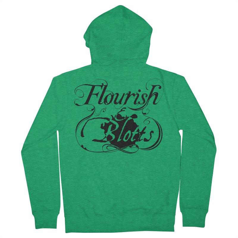 Flourish & Blotts Men's Zip-Up Hoody by Flaming Imp's Artist Shop