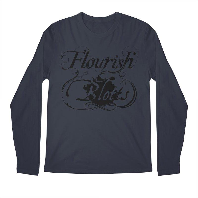 Flourish & Blotts Men's Longsleeve T-Shirt by Flaming Imp's Artist Shop