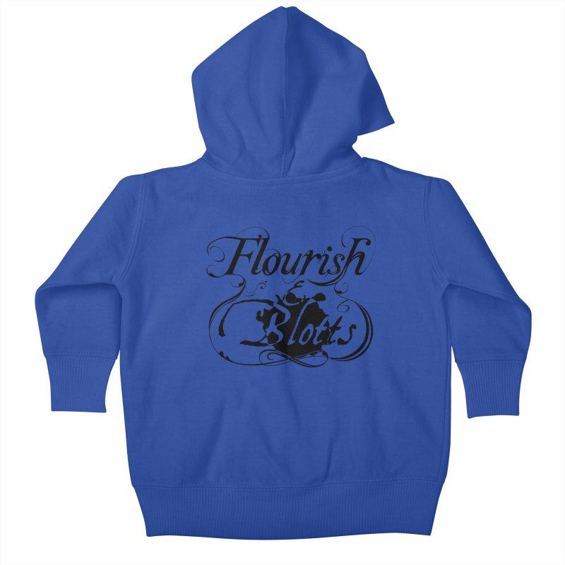 Flourish & Blotts Kids Baby Zip-Up Hoody by Flaming Imp's Artist Shop