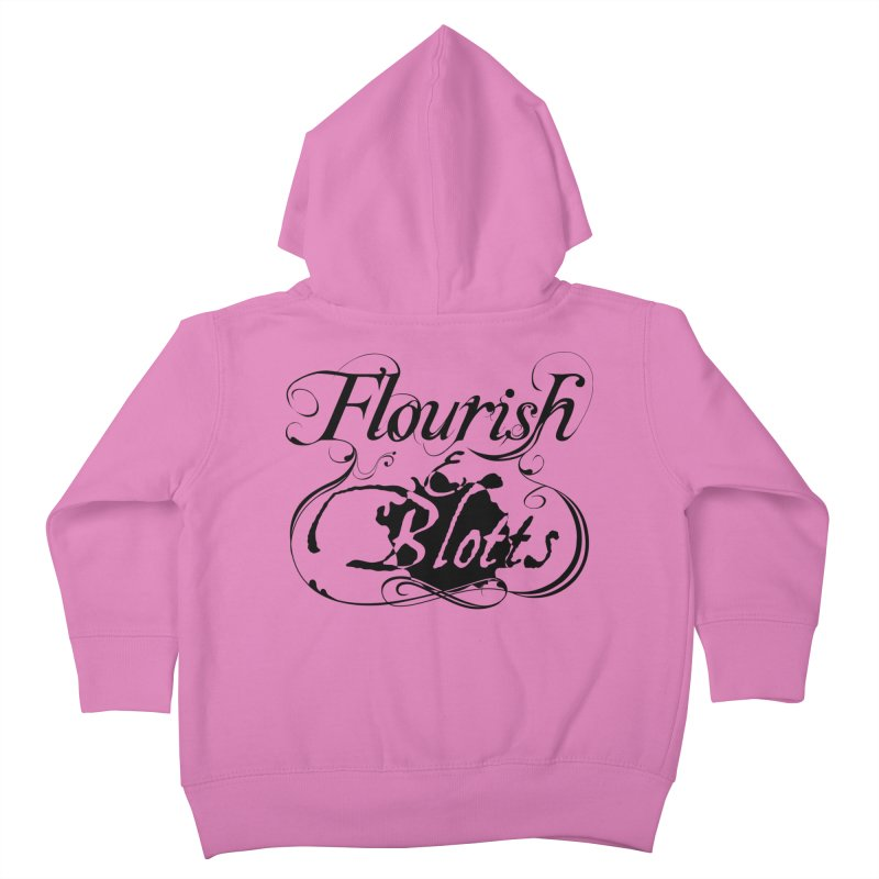 Flourish & Blotts Kids Toddler Zip-Up Hoody by Flaming Imp's Artist Shop