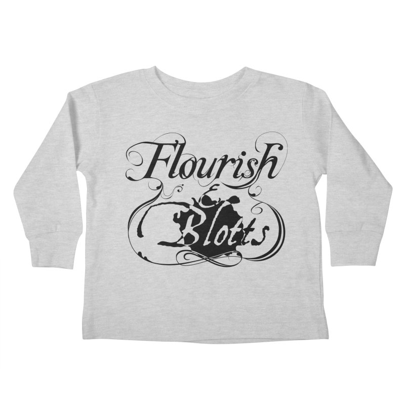 Flourish & Blotts Kids Toddler Longsleeve T-Shirt by Flaming Imp's Artist Shop
