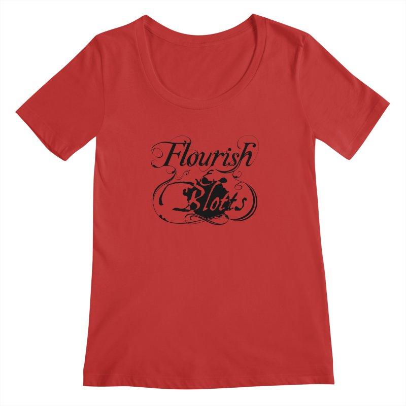 Flourish & Blotts Women's Scoopneck by Flaming Imp's Artist Shop