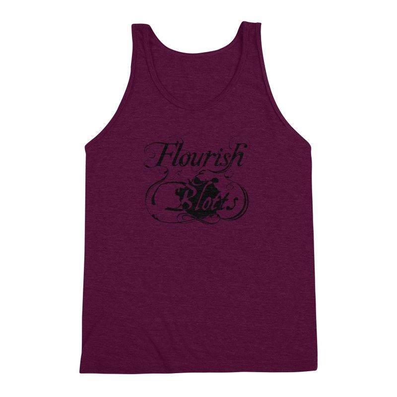 Flourish & Blotts Men's Triblend Tank by Flaming Imp's Artist Shop