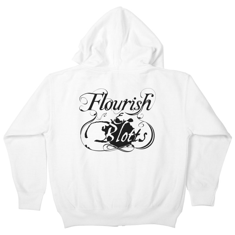 Flourish & Blotts Kids Zip-Up Hoody by Flaming Imp's Artist Shop