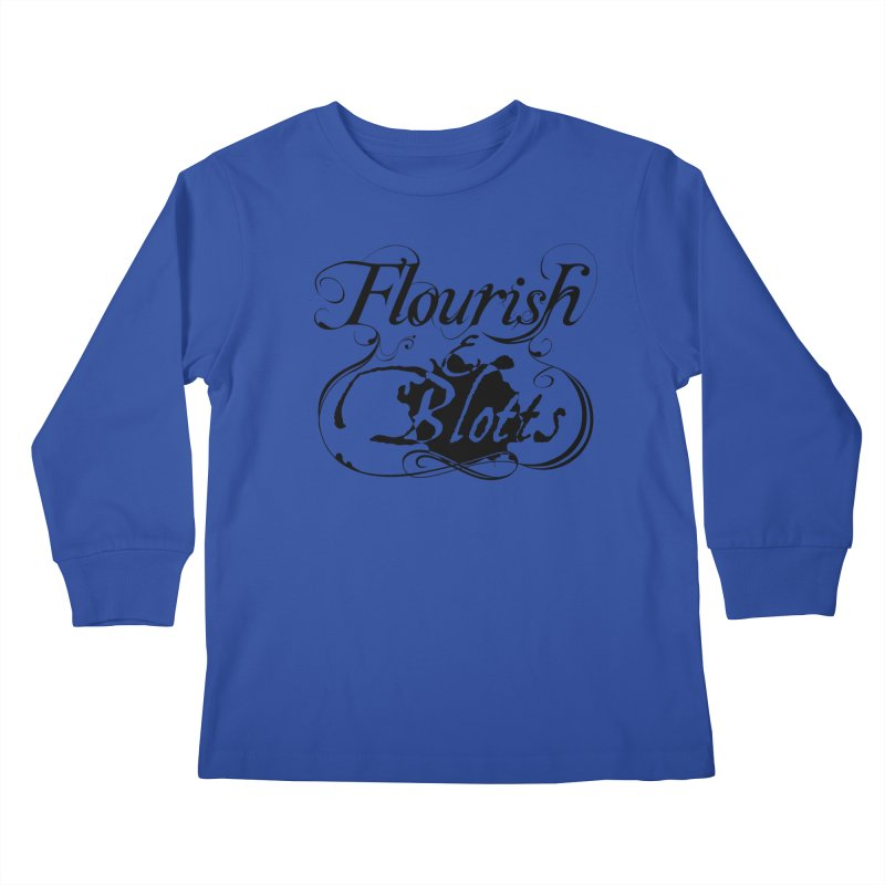 Flourish & Blotts Kids Longsleeve T-Shirt by Flaming Imp's Artist Shop