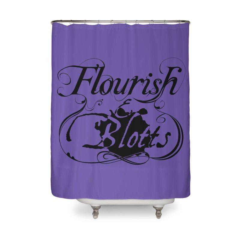 Flourish & Blotts Home Shower Curtain by Flaming Imp's Artist Shop