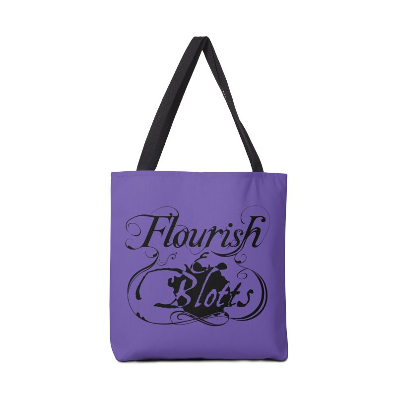Flourish & Blotts Accessories Bag by Flaming Imp's Artist Shop