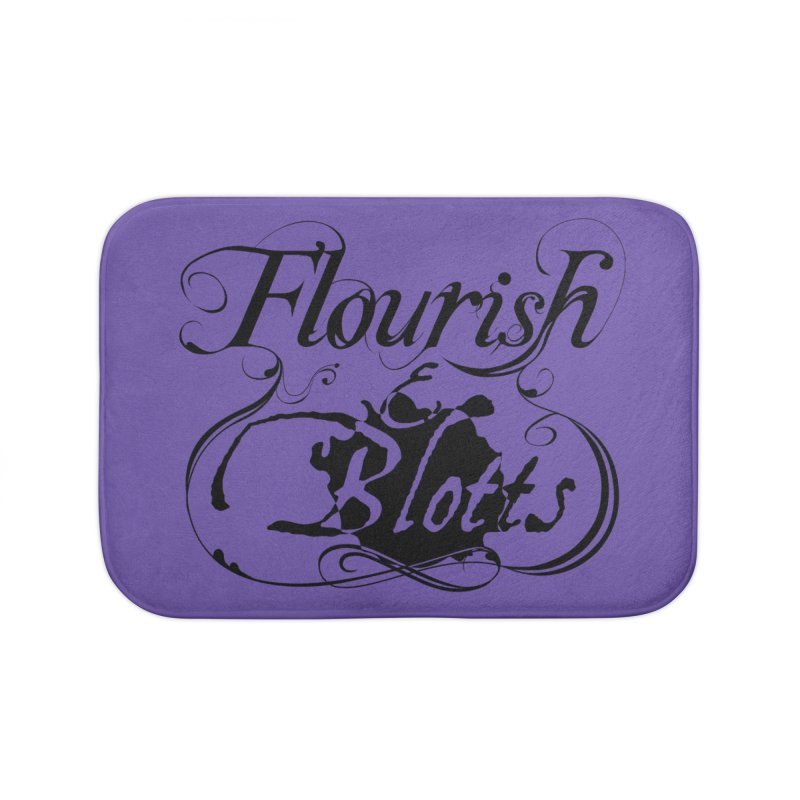 Flourish & Blotts Home Bath Mat by Flaming Imp's Artist Shop