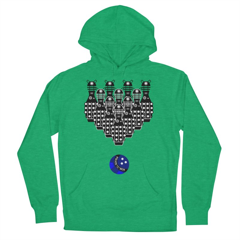 Dalek bowling Women's Pullover Hoody by Flaming Imp's Artist Shop