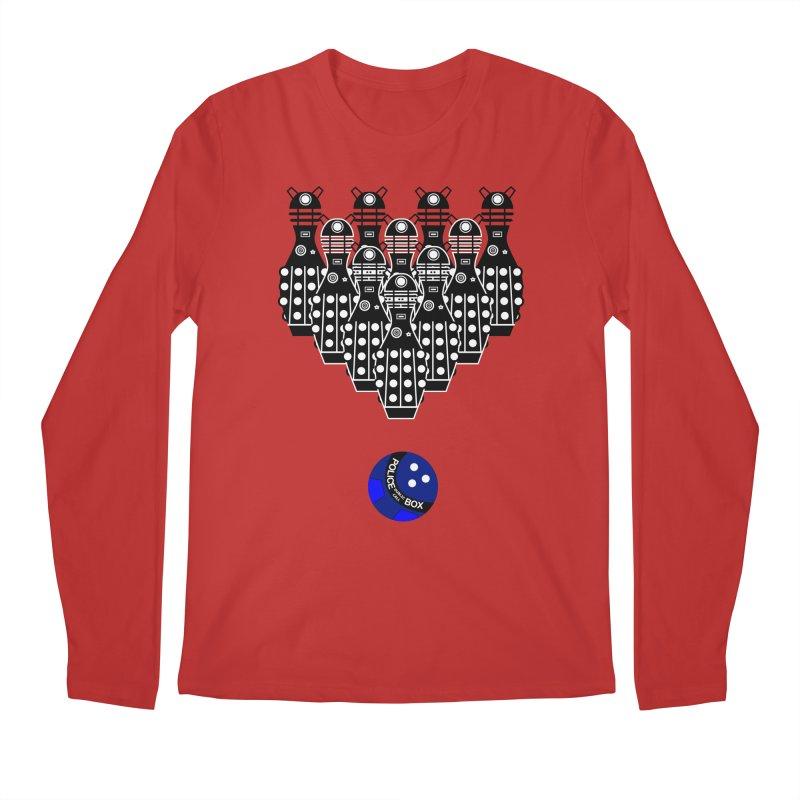 Dalek bowling Men's Longsleeve T-Shirt by Flaming Imp's Artist Shop