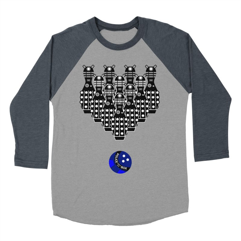 Dalek bowling Men's Baseball Triblend T-Shirt by Flaming Imp's Artist Shop