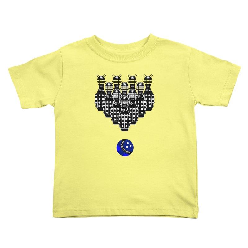 Dalek bowling Kids Toddler T-Shirt by Flaming Imp's Artist Shop
