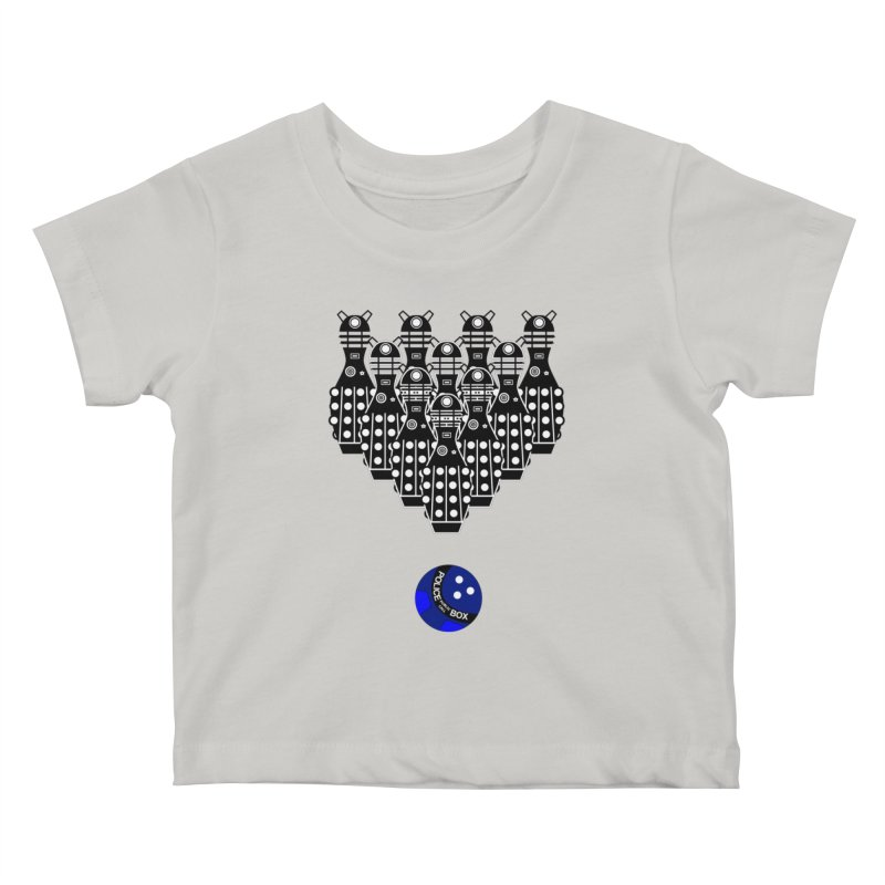 Dalek bowling Kids Baby T-Shirt by Flaming Imp's Artist Shop