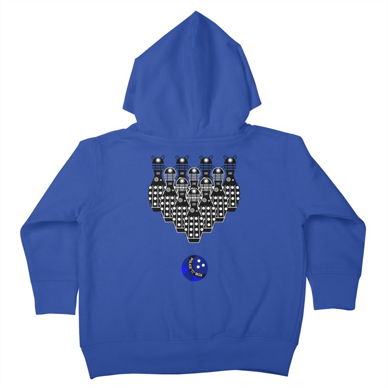 Dalek bowling Kids Toddler Zip-Up Hoody by Flaming Imp's Artist Shop
