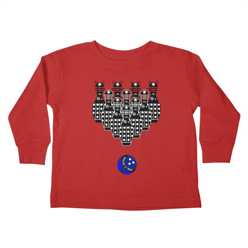 Dalek bowling Kids Toddler Longsleeve T-Shirt by Flaming Imp's Artist Shop