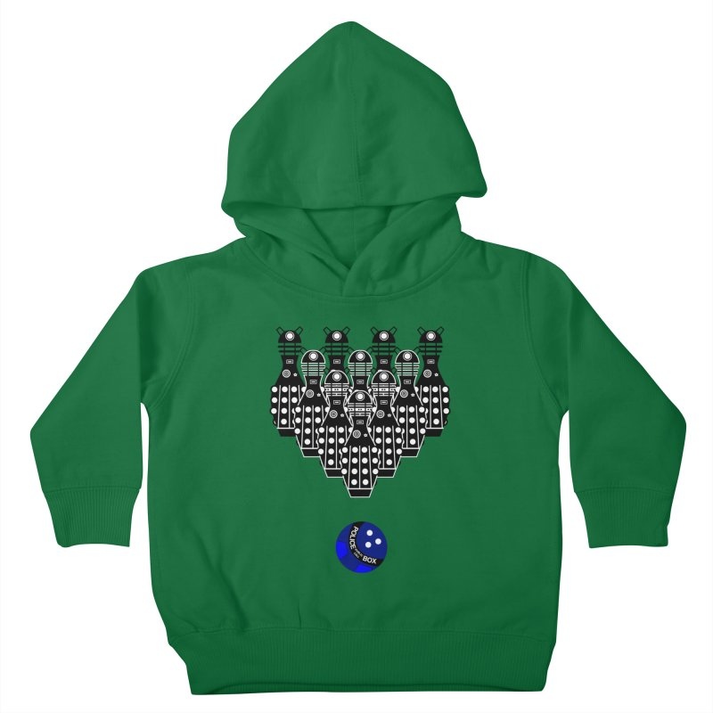 Dalek bowling Kids Toddler Pullover Hoody by Flaming Imp's Artist Shop