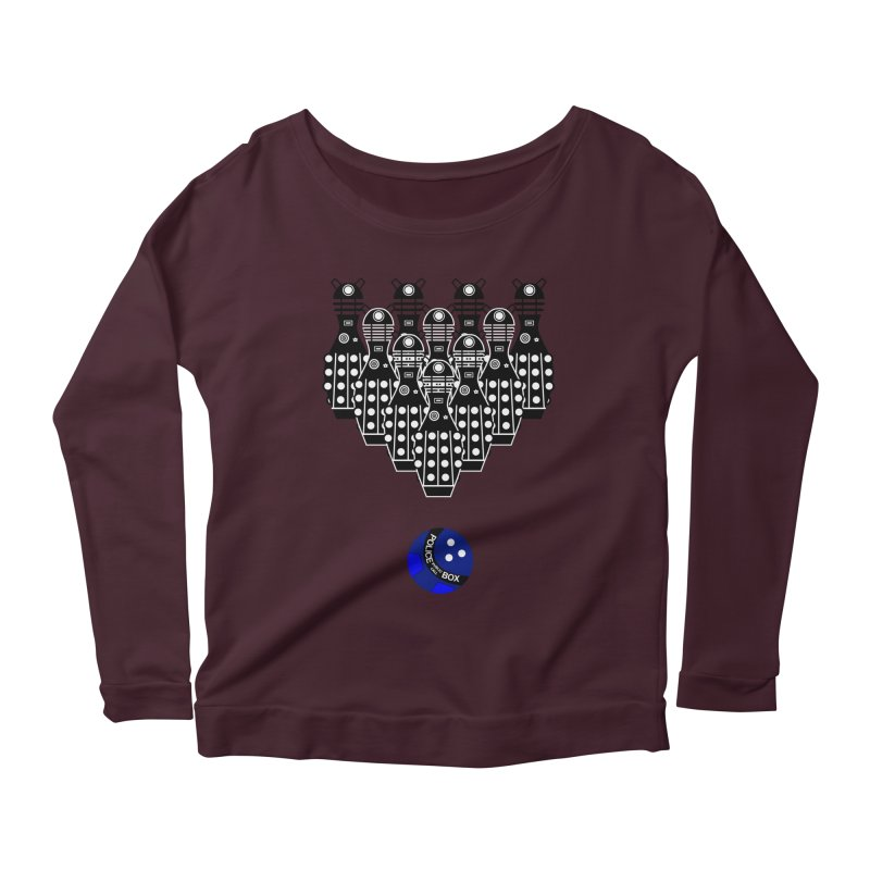 Dalek bowling Women's Longsleeve Scoopneck  by Flaming Imp's Artist Shop