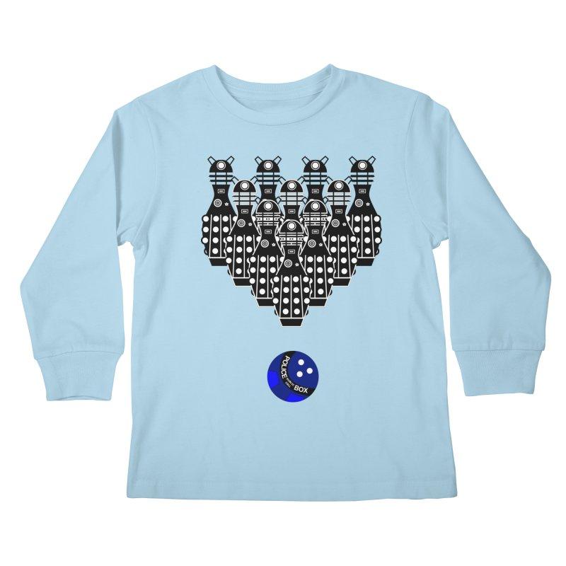 Dalek bowling Kids Longsleeve T-Shirt by Flaming Imp's Artist Shop