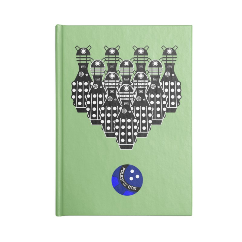 Dalek bowling Accessories Notebook by Flaming Imp's Artist Shop