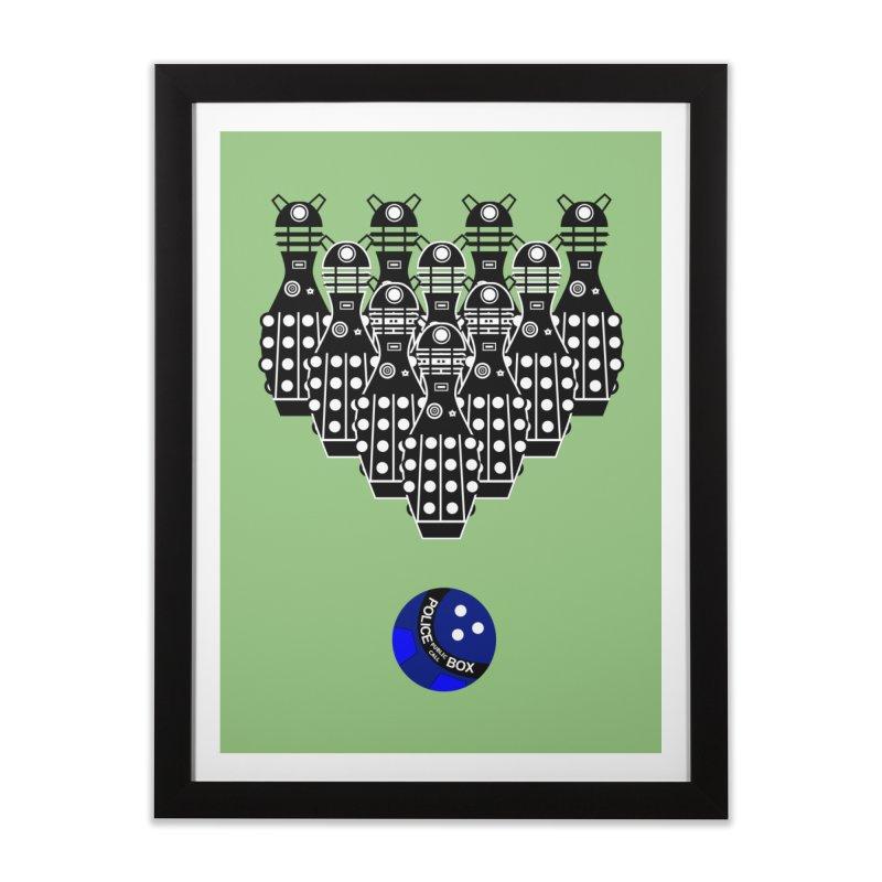Dalek bowling Home Framed Fine Art Print by Flaming Imp's Artist Shop