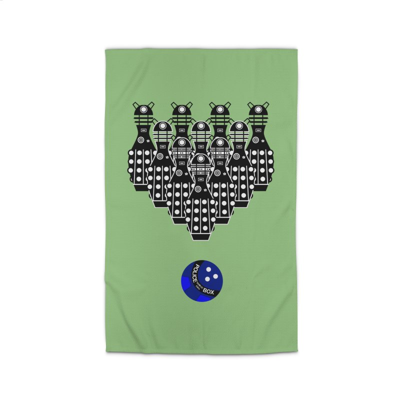 Dalek bowling Home Rug by Flaming Imp's Artist Shop