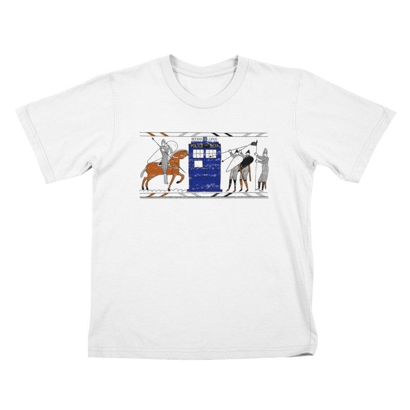 Nocens Lupus Kids T-Shirt by Flaming Imp's Artist Shop