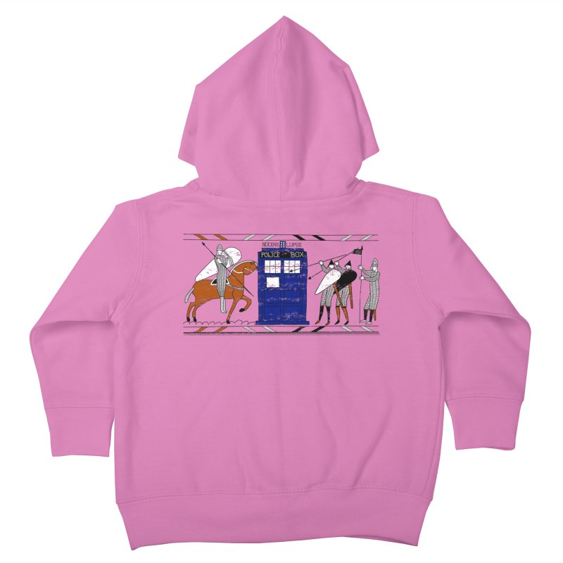 Nocens Lupus Kids Toddler Zip-Up Hoody by Flaming Imp's Artist Shop