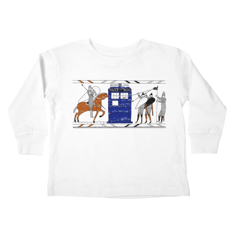 Nocens Lupus Kids Toddler Longsleeve T-Shirt by Flaming Imp's Artist Shop