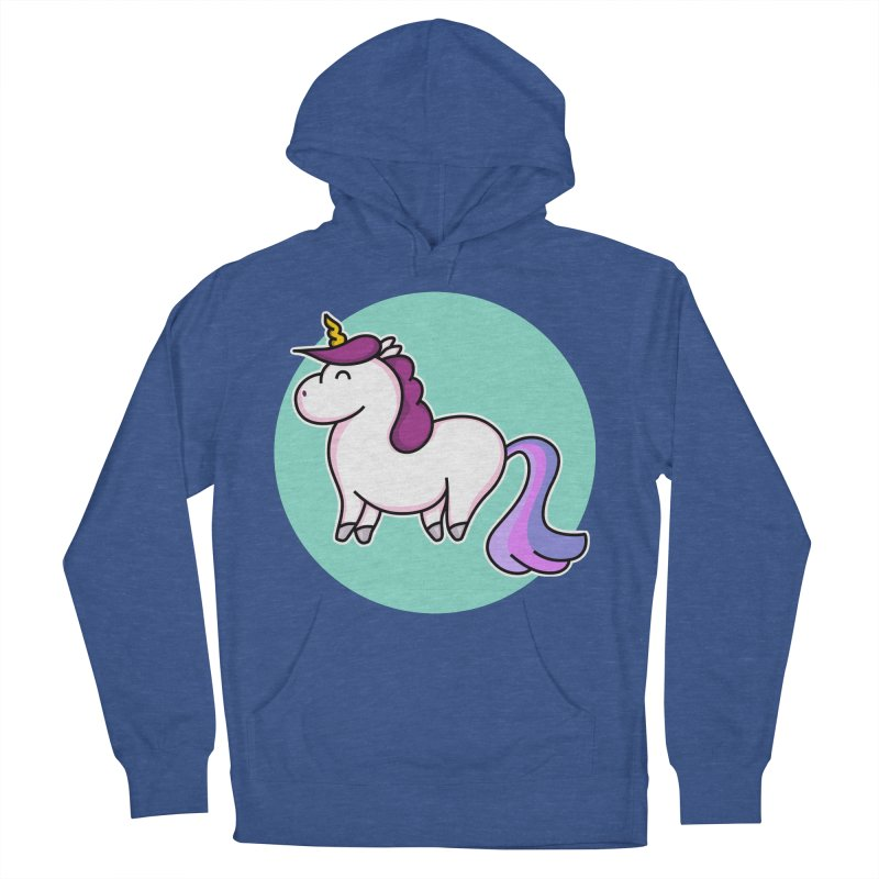 Cute Unicorn Men's Pullover Hoody by Flaming Imp's Artist Shop