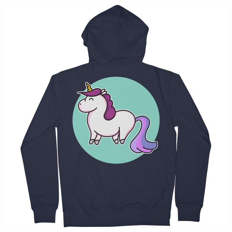 Cute Unicorn Women's Zip-Up Hoody by Flaming Imp's Artist Shop