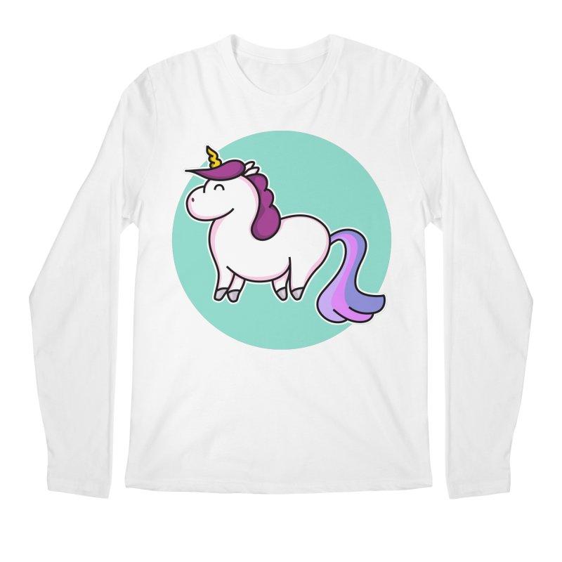 Cute Unicorn Men's Longsleeve T-Shirt by Flaming Imp's Artist Shop