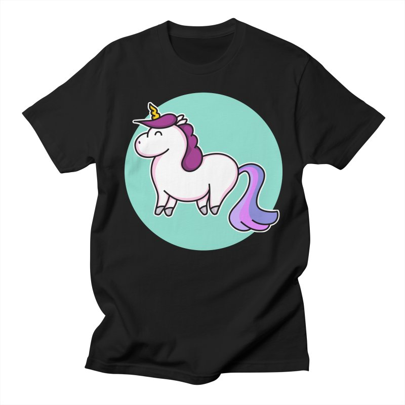 Cute Unicorn Women's Unisex T-Shirt by Flaming Imp's Artist Shop