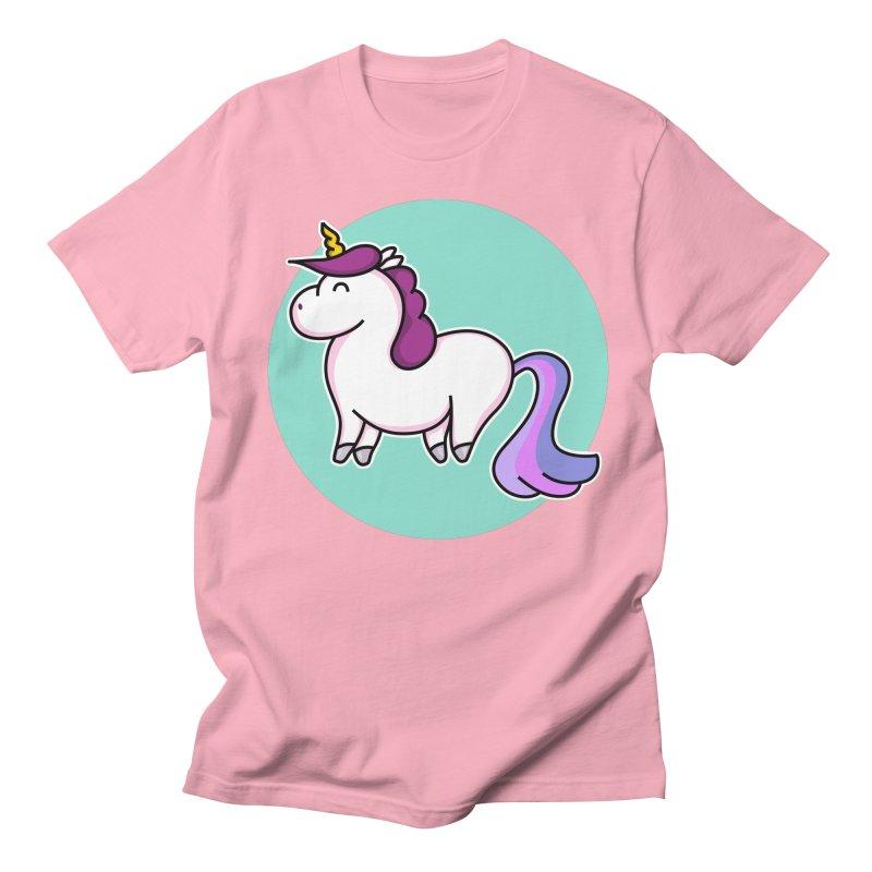 Cute Unicorn Men's T-shirt by Flaming Imp's Artist Shop