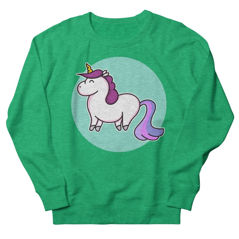 Cute Unicorn Men's Sweatshirt by Flaming Imp's Artist Shop