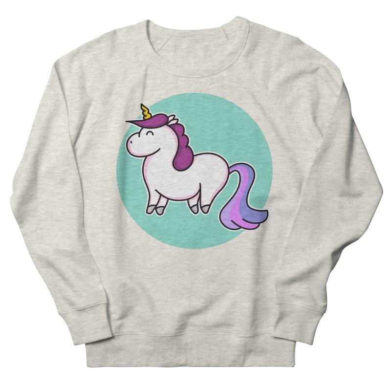 Cute Unicorn Men's Sweatshirt by Flaming Imp's Artist Shop