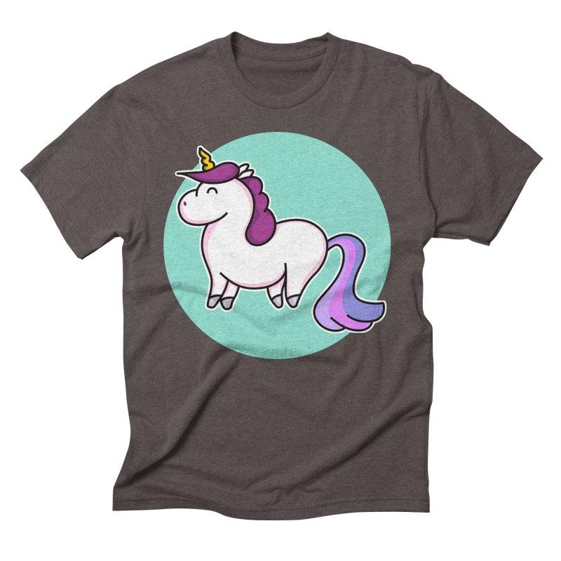 Cute Unicorn Men's Triblend T-Shirt by Flaming Imp's Artist Shop