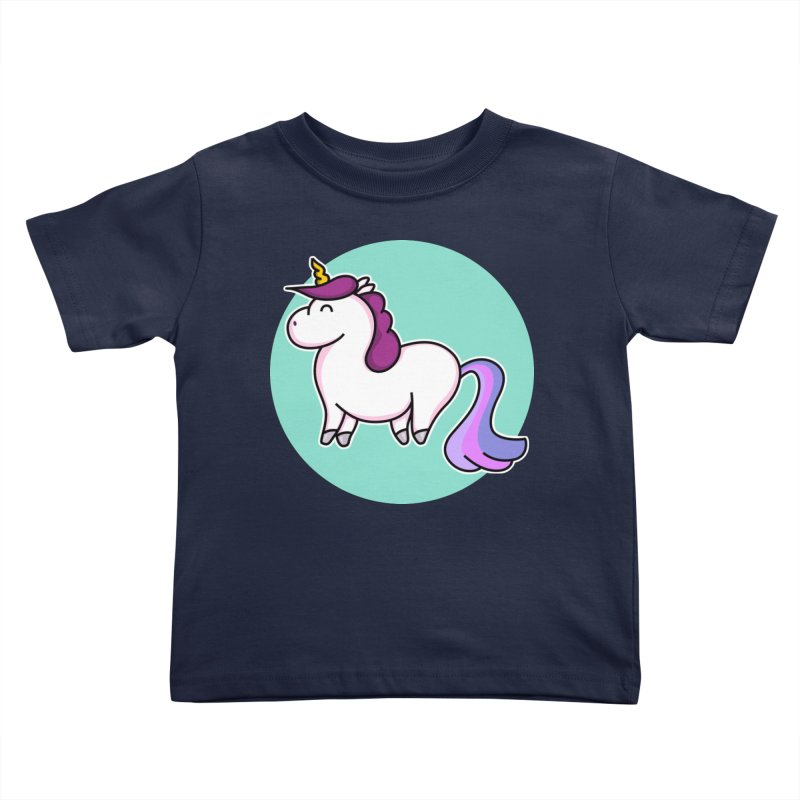 Cute Unicorn Kids Toddler T-Shirt by Flaming Imp's Artist Shop