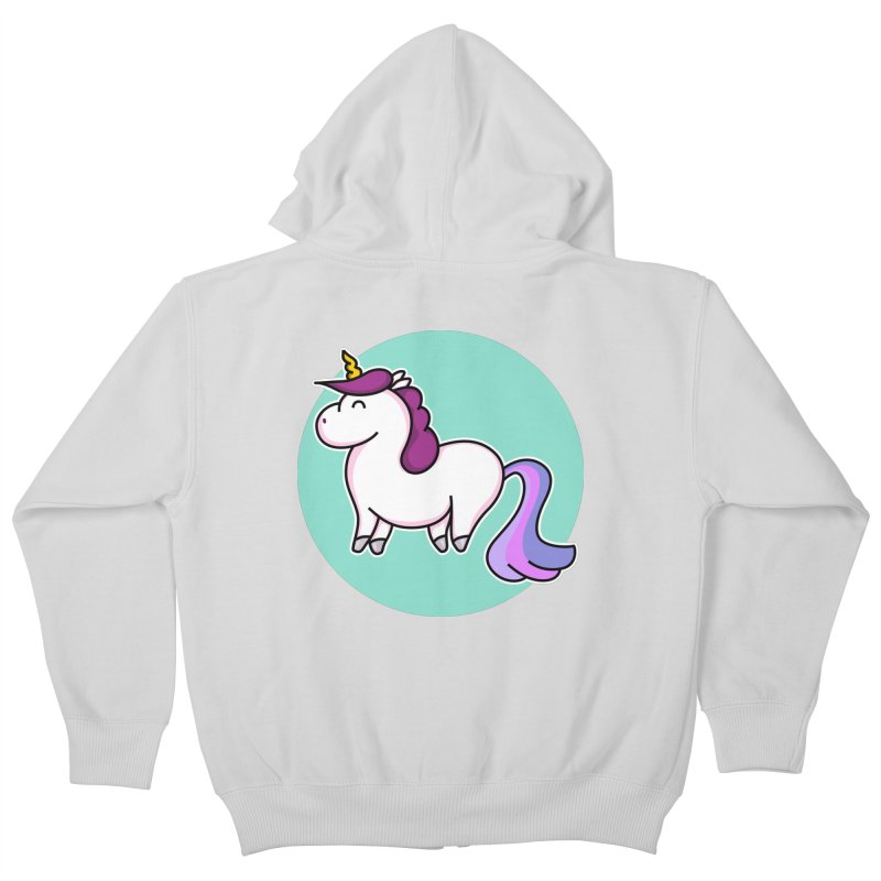 Cute Unicorn Kids Zip-Up Hoody by Flaming Imp's Artist Shop