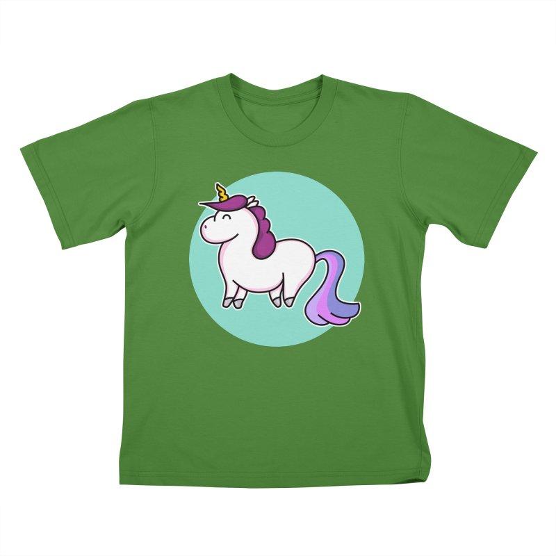 Cute Unicorn Kids T-Shirt by Flaming Imp's Artist Shop