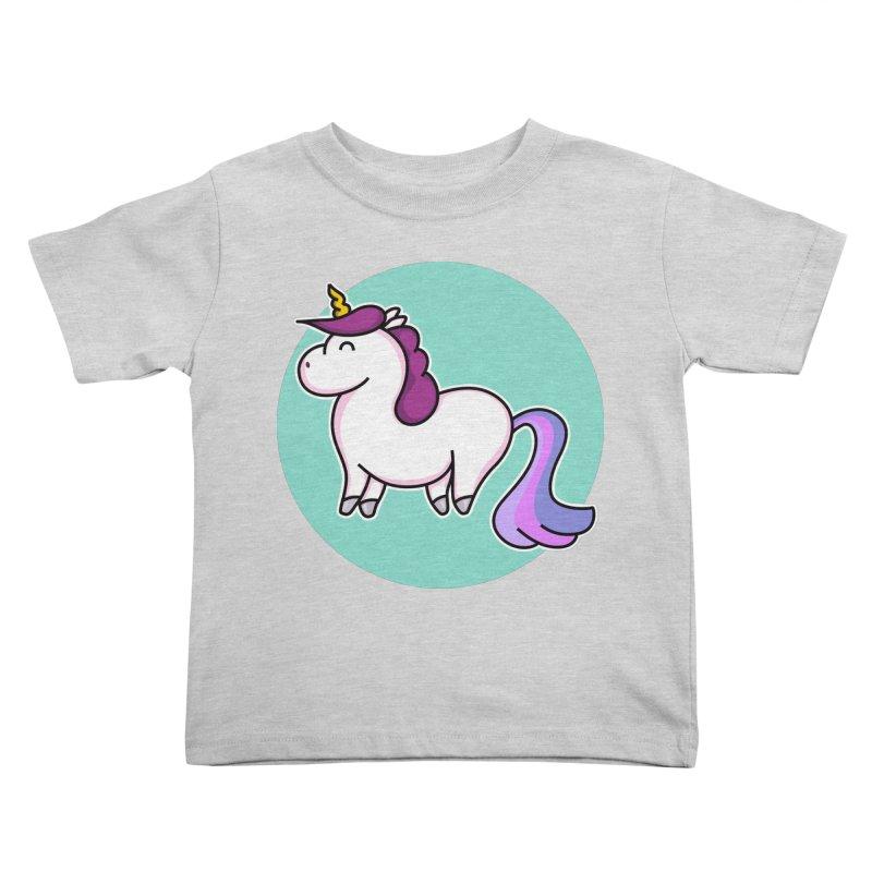 Cute Unicorn Kids Toddler T-Shirt by Flaming Imp's Artist Shop