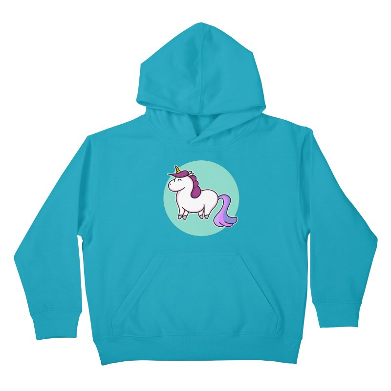 Cute Unicorn Kids Pullover Hoody by Flaming Imp's Artist Shop