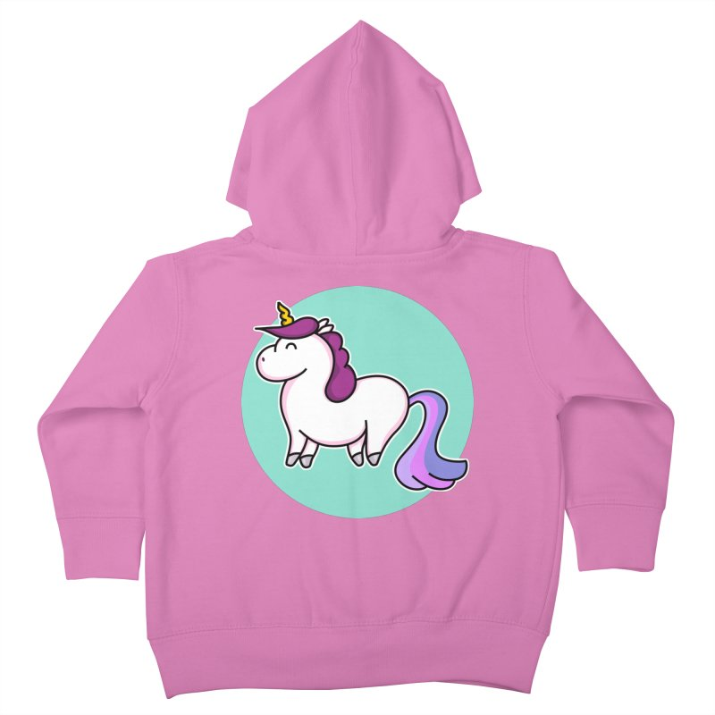 Cute Unicorn Kids Toddler Zip-Up Hoody by Flaming Imp's Artist Shop
