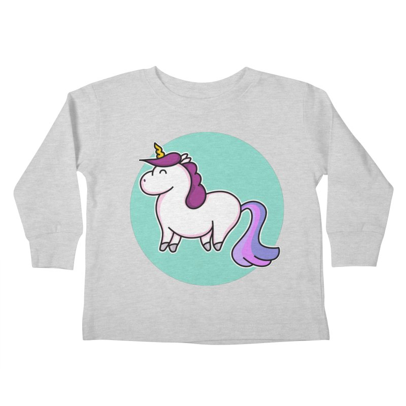 Cute Unicorn Kids Toddler Longsleeve T-Shirt by Flaming Imp's Artist Shop