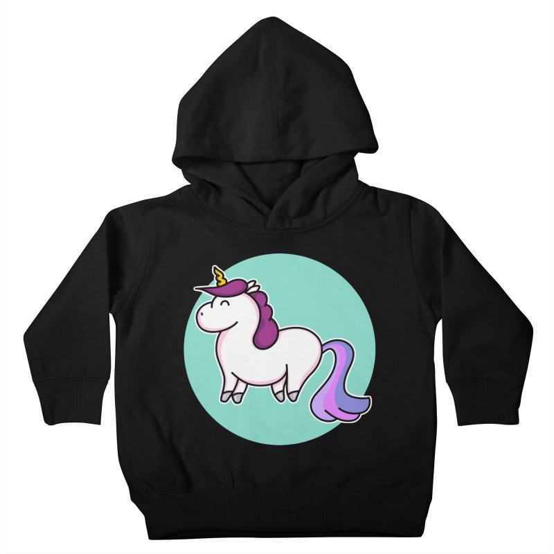 Cute Unicorn Kids Toddler Pullover Hoody by Flaming Imp's Artist Shop